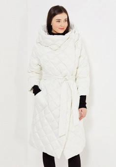 Пуховик, Odri, цвет: белый. Артикул: OD001EWYGM54. Женская одежда / Верхняя одежда / Пуховики и зимние куртки