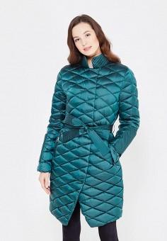 Пуховик, Odri, цвет: бирюзовый. Артикул: OD001EWYGM78. Женская одежда / Верхняя одежда / Пуховики и зимние куртки