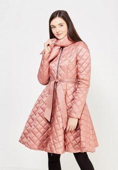 Пуховик, Odri, цвет: розовый. Артикул: OD001EWYGM82. Женская одежда / Верхняя одежда / Пуховики и зимние куртки