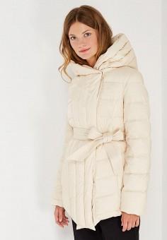 Пуховик, Odri Mio, цвет: бежевый. Артикул: OD006EWWKM20. Женская одежда / Верхняя одежда / Пуховики и зимние куртки