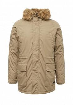 Парка, Only & Sons, цвет: бежевый. Артикул: ON013EMUKD18. Мужская одежда / Верхняя одежда / Пуховики и зимние куртки