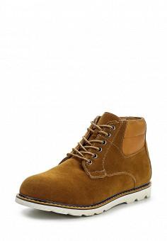 Ботинки, oodji, цвет: коричневый. Артикул: OO001AMPPA30. Мужская обувь / Ботинки и сапоги