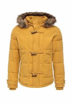 Куртка утепленная, oodji, цвет: желтый. Артикул: OO001EMLXC46. Мужская одежда / Верхняя одежда / Пуховики и зимние куртки