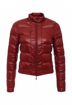Пуховик, oodji, цвет: бордовый. Артикул: OO001EWJOM29. Женская одежда / Верхняя одежда / Пуховики и зимние куртки