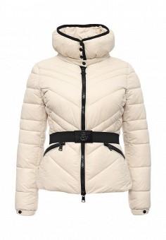 Куртка утепленная, oodji, цвет: бежевый. Артикул: OO001EWMGO27. Женская одежда / Верхняя одежда / Пуховики и зимние куртки