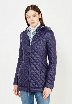 Пуховик, Patrizia Pepe, цвет: синий, серый. Артикул: PA748EWTUR59. Премиум / Одежда / Верхняя одежда / Пуховики и зимние куртки