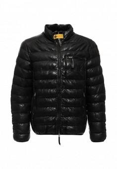 Куртка кожаная, Parajumpers, цвет: черный. Артикул: PA997EMKKF28. Премиум / Одежда / Верхняя одежда / Пуховики