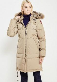Пуховик, Parajumpers, цвет: бежевый. Артикул: PA997EWTCG42. Премиум / Одежда / Верхняя одежда / Пуховики и зимние куртки