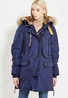 Пуховик, Parajumpers, цвет: синий. Артикул: PA997EWTCG45. Премиум / Одежда / Верхняя одежда / Пуховики и зимние куртки