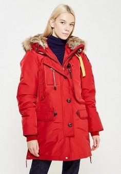 Пуховик, Parajumpers, цвет: красный. Артикул: PA997EWTCG47. Премиум / Одежда / Верхняя одежда / Пуховики и зимние куртки