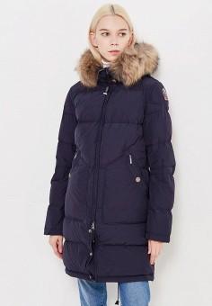 Пуховик, Parajumpers, цвет: синий. Артикул: PA997EWTCG52. Женская одежда / Верхняя одежда / Пуховики и зимние куртки