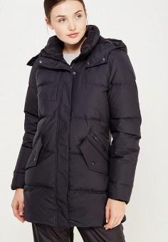 Пуховик, Reebok Classics, цвет: черный. Артикул: RE005EWUOU02. Женская одежда / Верхняя одежда / Пуховики и зимние куртки