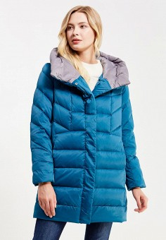 Пуховик, Savage, цвет: бирюзовый. Артикул: SA004EWVJW69. Женская одежда / Верхняя одежда / Пуховики и зимние куртки