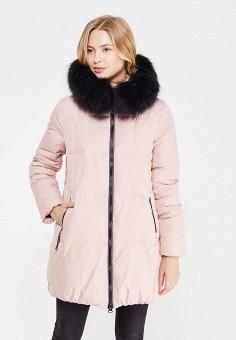 Пуховик, Savage, цвет: розовый. Артикул: SA004EWVJW71. Женская одежда / Верхняя одежда / Пуховики и зимние куртки