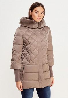 Пуховик, Sela, цвет: бежевый. Артикул: SE001EWURO67. Женская одежда / Верхняя одежда / Пуховики и зимние куртки