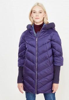 Пуховик, Tom Farr, цвет: синий. Артикул: TO005EWWUW00. Женская одежда / Верхняя одежда / Пуховики и зимние куртки