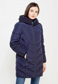 Пуховик, Tom Farr, цвет: синий. Артикул: TO005EWWUW24. Женская одежда / Верхняя одежда / Пуховики и зимние куртки
