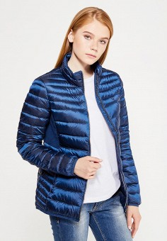 Пуховик, Tommy Hilfiger Denim, цвет: синий. Артикул: TO013EWTPB44. Женская одежда / Верхняя одежда / Пуховики и зимние куртки