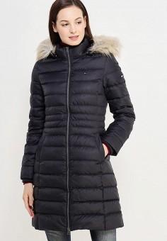 Пуховик, Tommy Hilfiger Denim, цвет: черный. Артикул: TO013EWUFJ58. Женская одежда / Верхняя одежда / Пуховики и зимние куртки