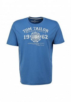 Футболка, Tom Tailor, цвет: синий. Артикул: TO172EMJE513. Tom Tailor