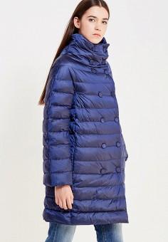 Пуховик, Trussardi Jeans, цвет: синий. Артикул: TR016EWUWF07. Премиум / Одежда / Верхняя одежда / Пуховики и зимние куртки