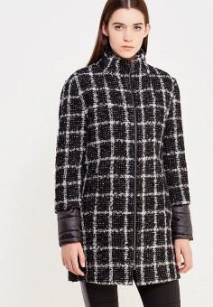 Пальто, Trussardi Jeans, цвет: черный. Артикул: TR016EWUWF16. Премиум / Одежда / Верхняя одежда