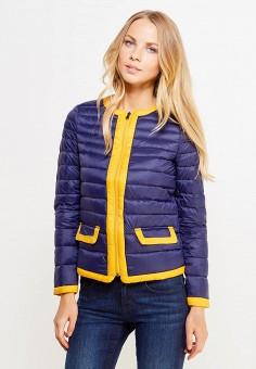 Пуховик, United Colors of Benetton, цвет: синий. Артикул: UN012EWVXJ59. Женская одежда / Верхняя одежда / Пуховики и зимние куртки