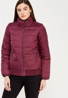 Пуховик, United Colors of Benetton, цвет: красный, фиолетовый. Артикул: UN012EWWLZ28. Женская одежда / Верхняя одежда / Пуховики и зимние куртки