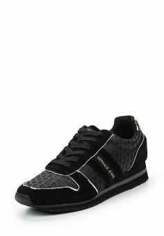 Кроссовки, Versace Jeans, цвет: черный. Артикул: VE006AWUEL90. Премиум / Обувь / Кроссовки и кеды
