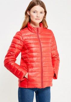 Пуховик, Vitario, цвет: красный. Артикул: VI056EWXFA41. Женская одежда / Верхняя одежда