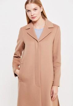 Пальто, Weekend Max Mara, цвет: бежевый. Артикул: WE017EWTMH92. Премиум / Одежда / Верхняя одежда