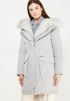 Пуховик, Woolrich, цвет: серый. Артикул: WO256EWUPH57. Премиум / Одежда / Верхняя одежда / Пуховики и зимние куртки