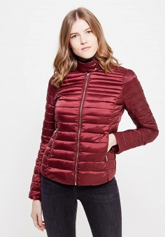 Пуховик, Zarina, цвет: бордовый. Артикул: ZA004EWUOP65. Женская одежда / Верхняя одежда / Пуховики и зимние куртки