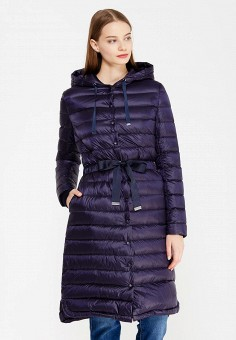 Пуховик, Zarina, цвет: синий. Артикул: ZA004EWUOP71. Женская одежда / Верхняя одежда / Пуховики и зимние куртки