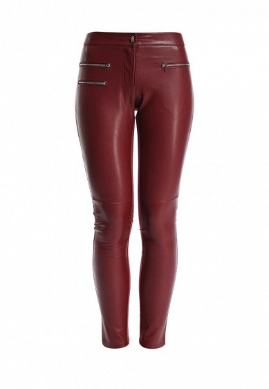 Брюки LOST INK PU & PONTE SKINNY TROUSERS WITH ZIP DETAIL