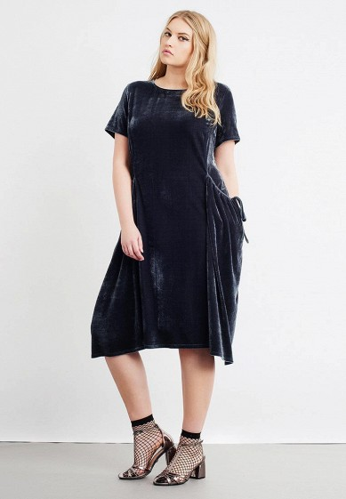 Платье LOST INK PLUS SWING DRESS IN VELVET WITH DRAPE POCKETS