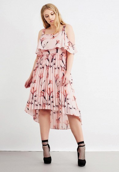 Платье LOST INK PLUS PLEATED HEM DRESS IN FLOWER FAN PRINT